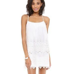 Susana Monaco Yumiko Eyelet White Dress Sz2